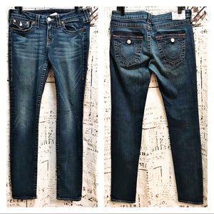 True Religion Julie Skinny Jeans Dark Wash Size 30